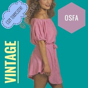 Pink VINTAGE Terrycloth Coverup OSFA NWT